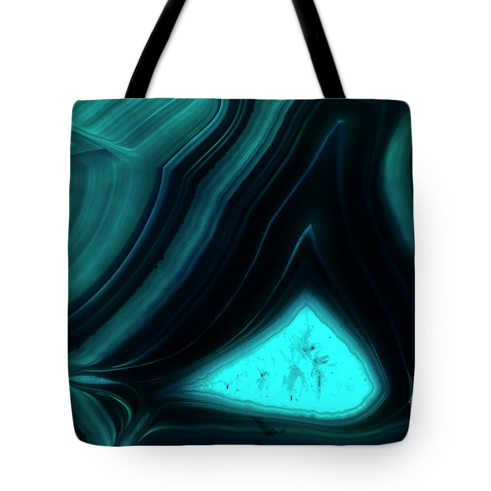 Psi Tote Bag featuring the photograph Blue Agate by Ilan Rosen