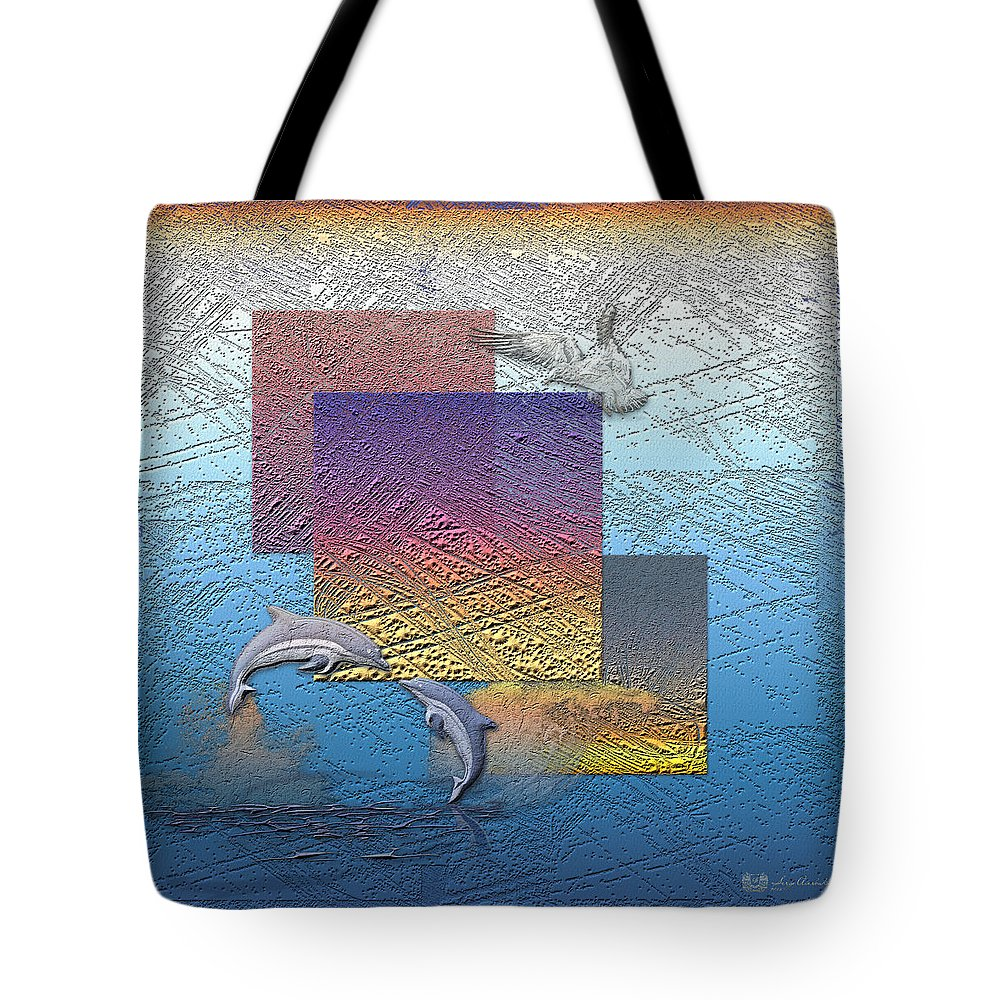 �from Dusk Till Dawn� Collection By Serge Averbukh Tote Bag featuring the photograph Blue Lagoon Sunrise by Serge Averbukh