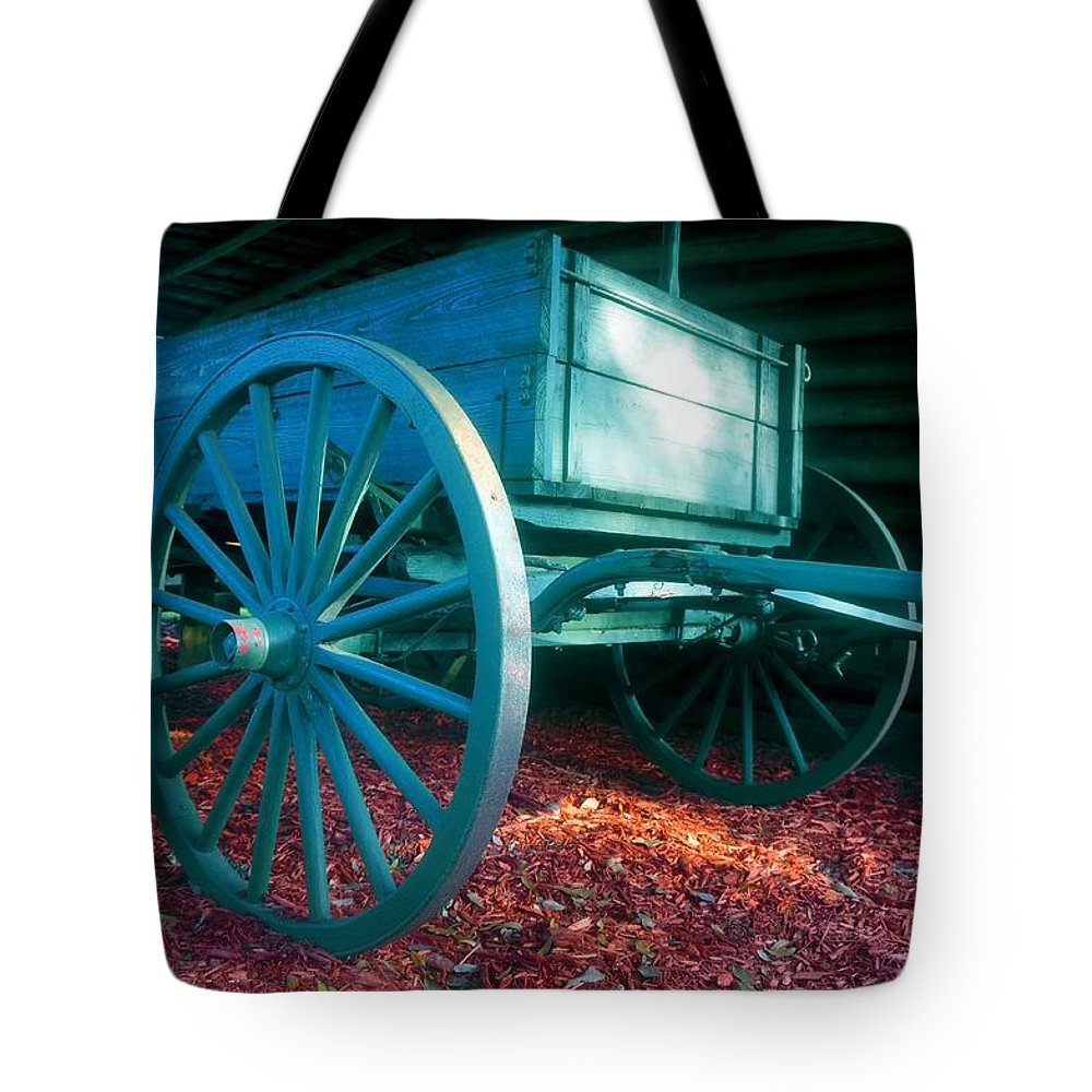 Blue Tote Bag featuring the photograph Blue Wagon by David Lee Thompson