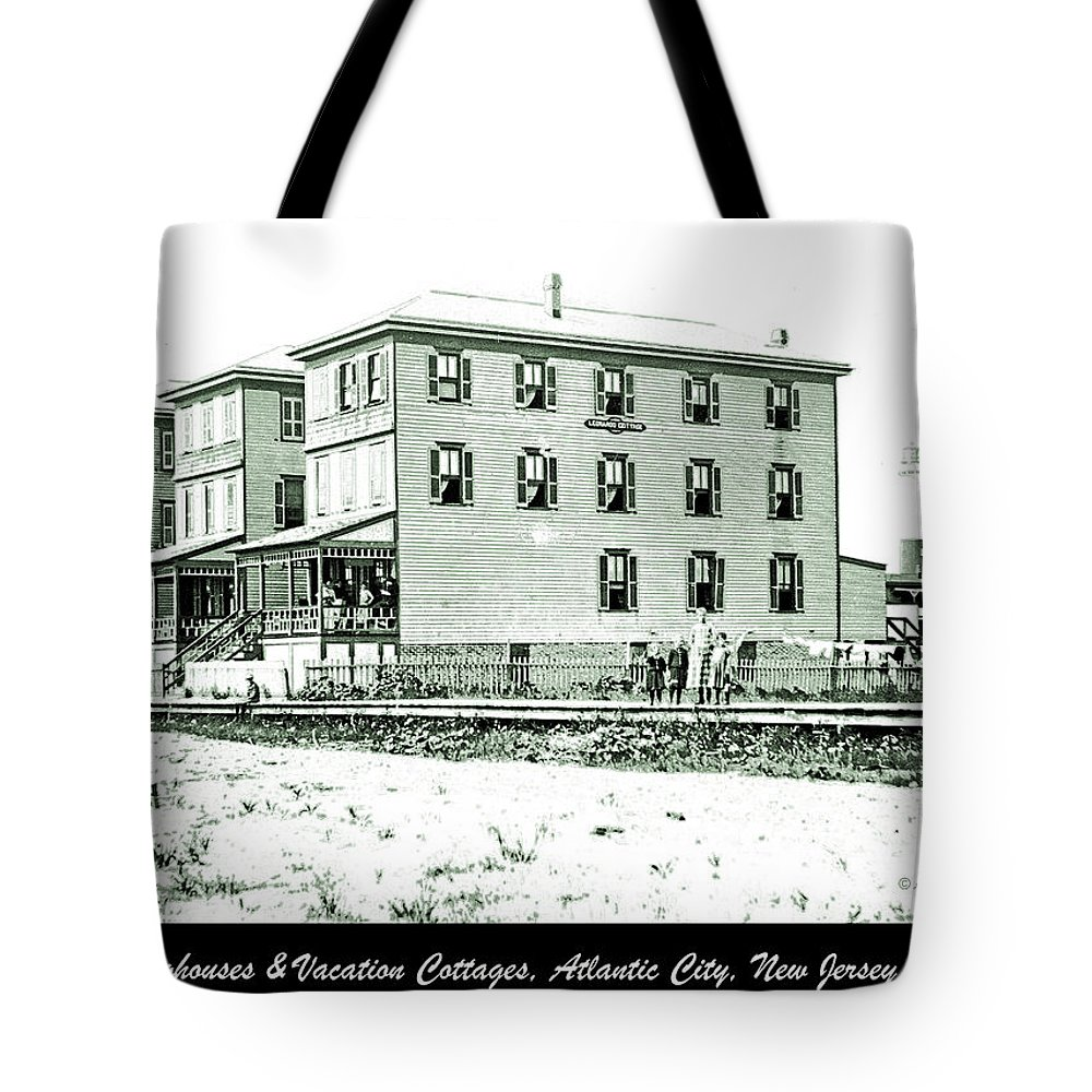 Vintage Photograph Tote Bag featuring the photograph Boardinghouses And Cottages Atlantic City New Jersey C 1900 by A Gurmankin