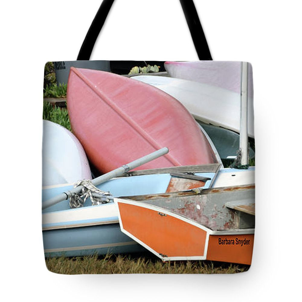 Boats Boats And More Boats Tote Bag featuring the photograph Boats Boats And More Boats by Barbara Snyder