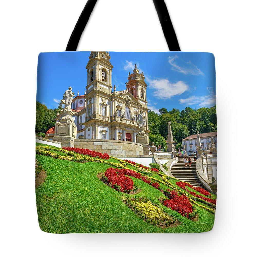 Braga Tote Bag featuring the photograph Bom Jesus Do Monte Braga by Benny Marty