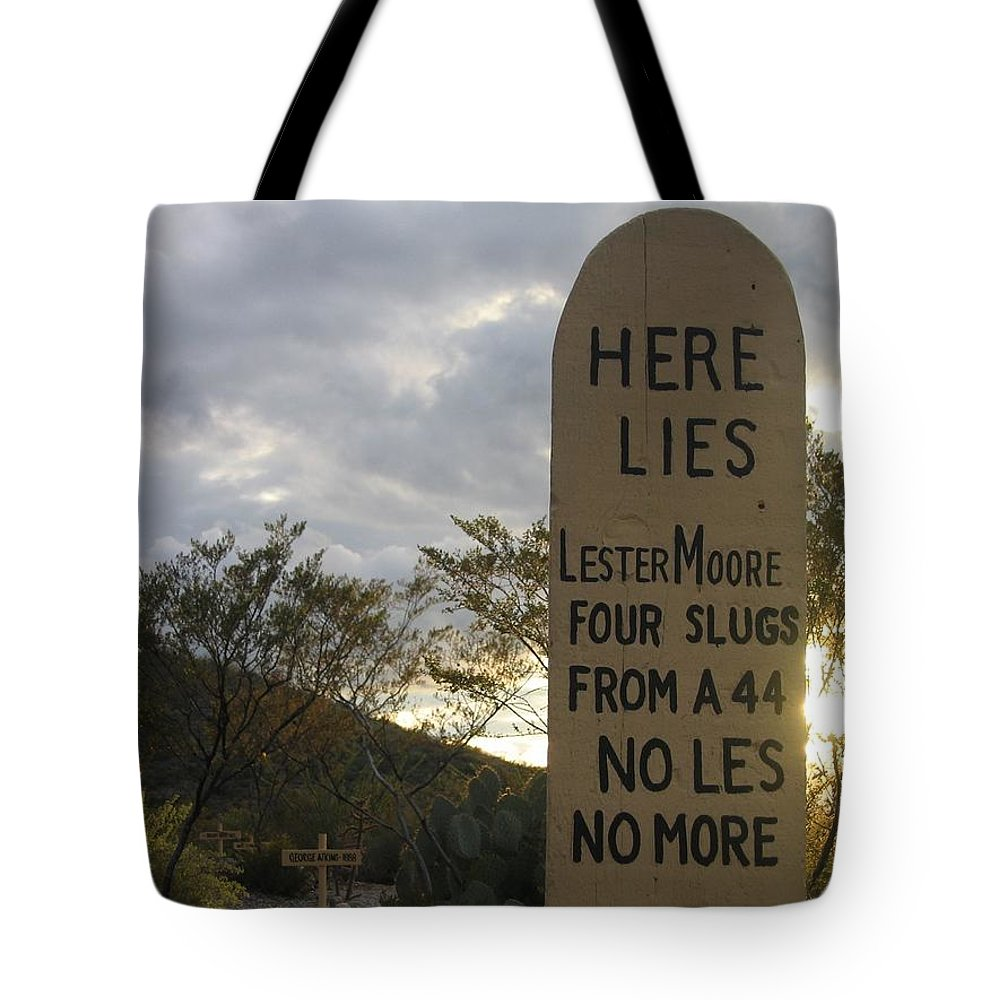 Boothill Graveyard Tombstone Arizona 2004 Tote Bag featuring the photograph Boothill Graveyard Tombstone Arizona 2004 by David Lee Guss