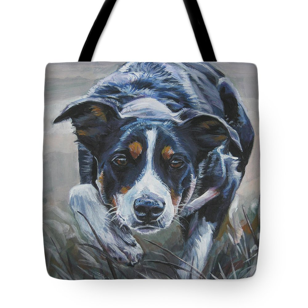 Border Collie Tote Bag featuring the painting Border Collie by Lee Ann Shepard