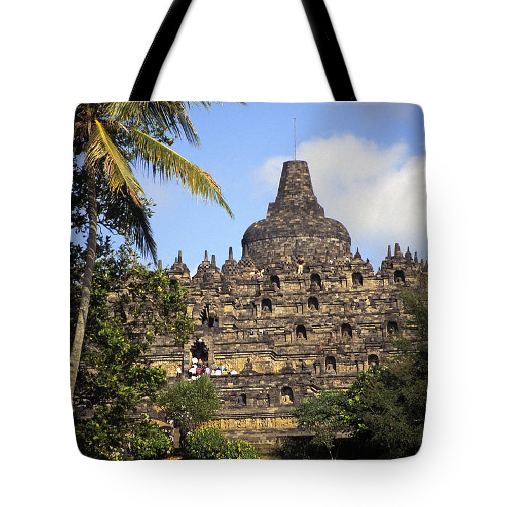 Ancient Tote Bag featuring the photograph Borobudor Temple by Gloria & Richard Maschmeyer - Printscapes