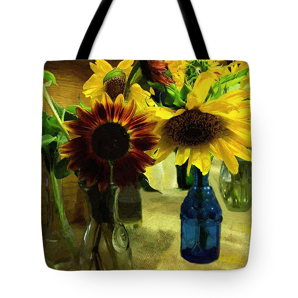 Still Life Tote Bag featuring the painting Bottled Sunshine by RC DeWinter