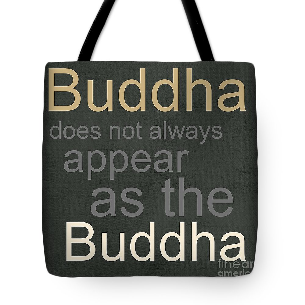 Buddha Tote Bag featuring the mixed media Buddha by Linda Woods
