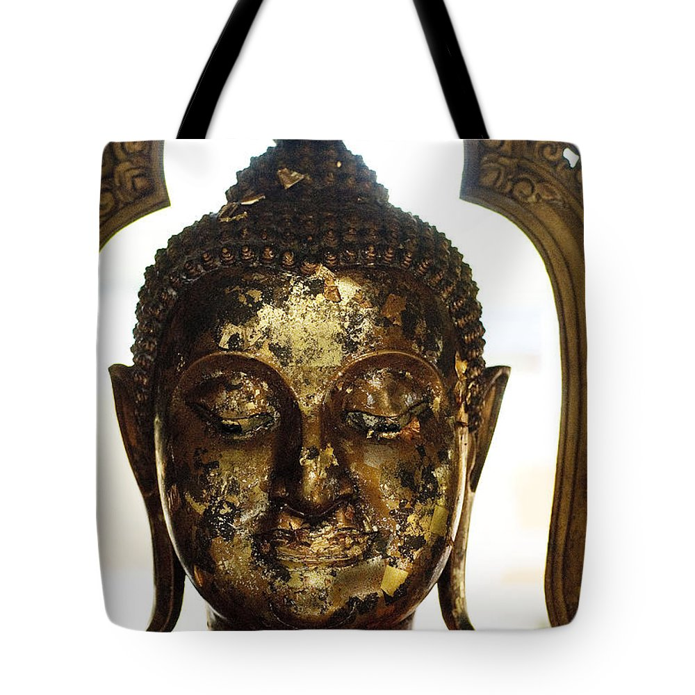 Art Tote Bag featuring the photograph Buddha Sculpture by Ray Laskowitz - Printscapes