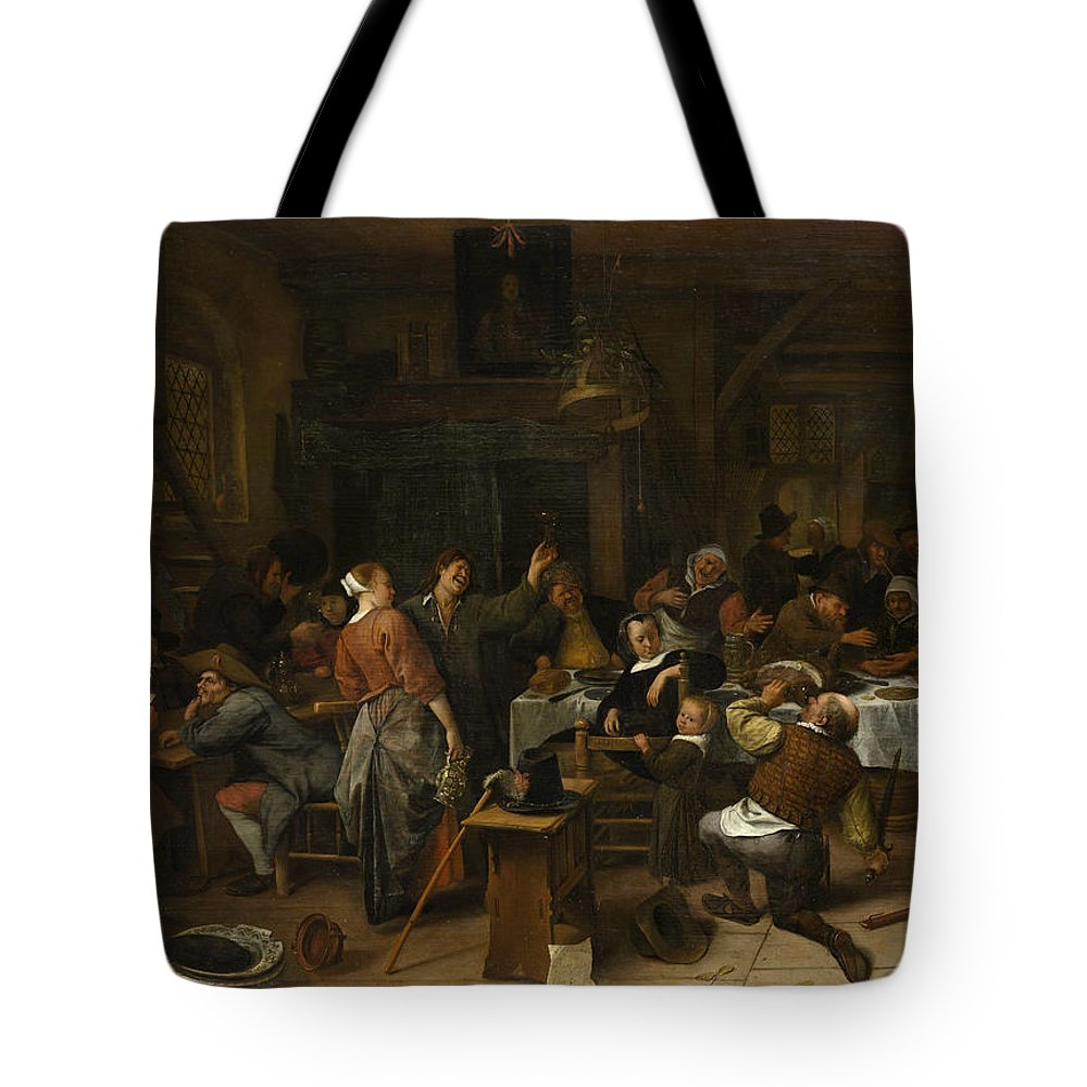 Animal Tote Bag featuring the painting Budget Day by Jan Steen