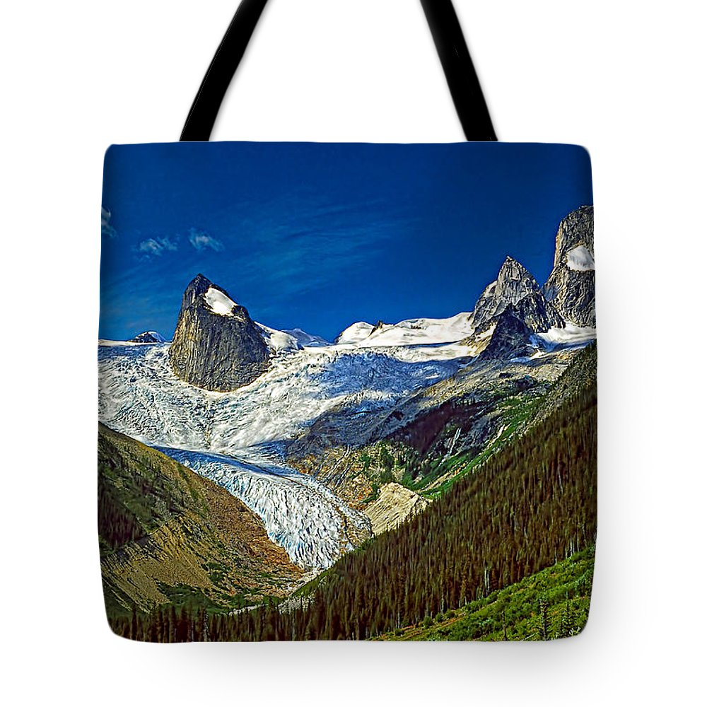 Mountains Tote Bag featuring the photograph Bugaboo Spires by Steve Harrington
