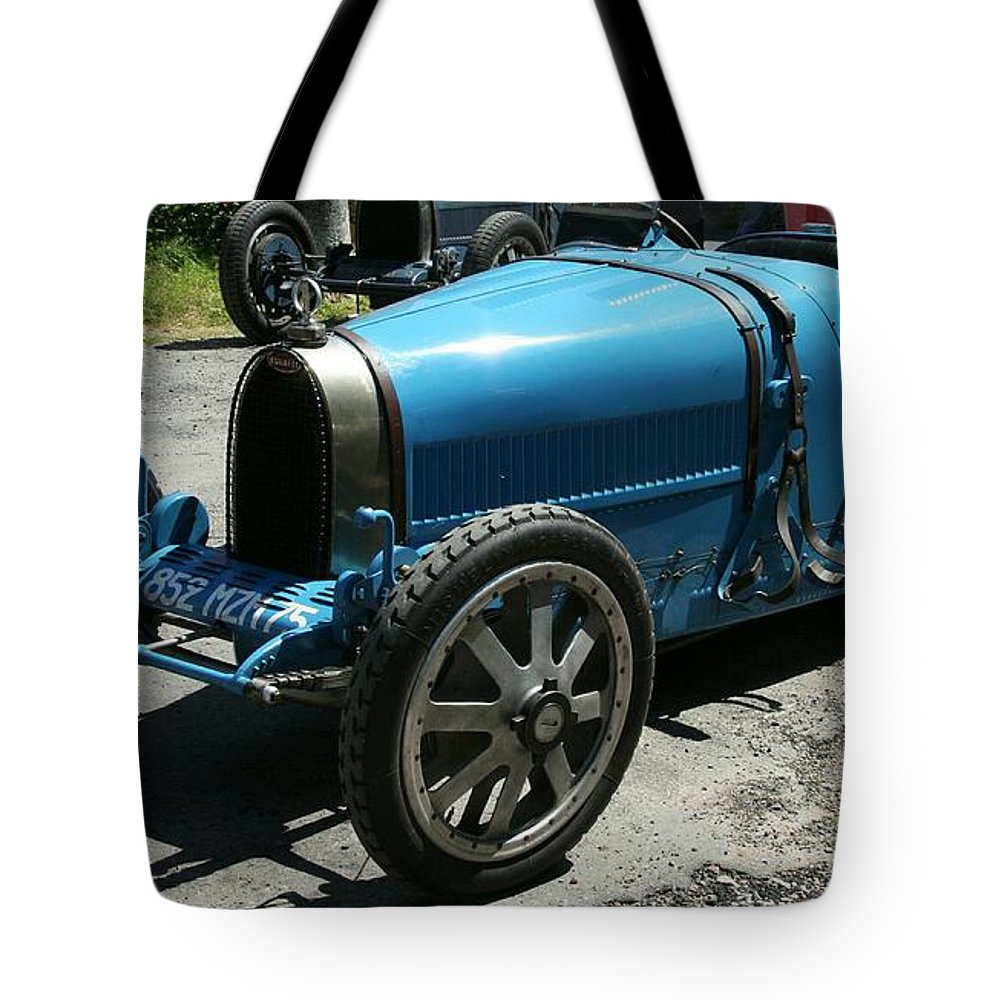 Oldtimer Tote Bag featuring the photograph Bugatti Oldtimer by Christiane Schulze Art And Photography