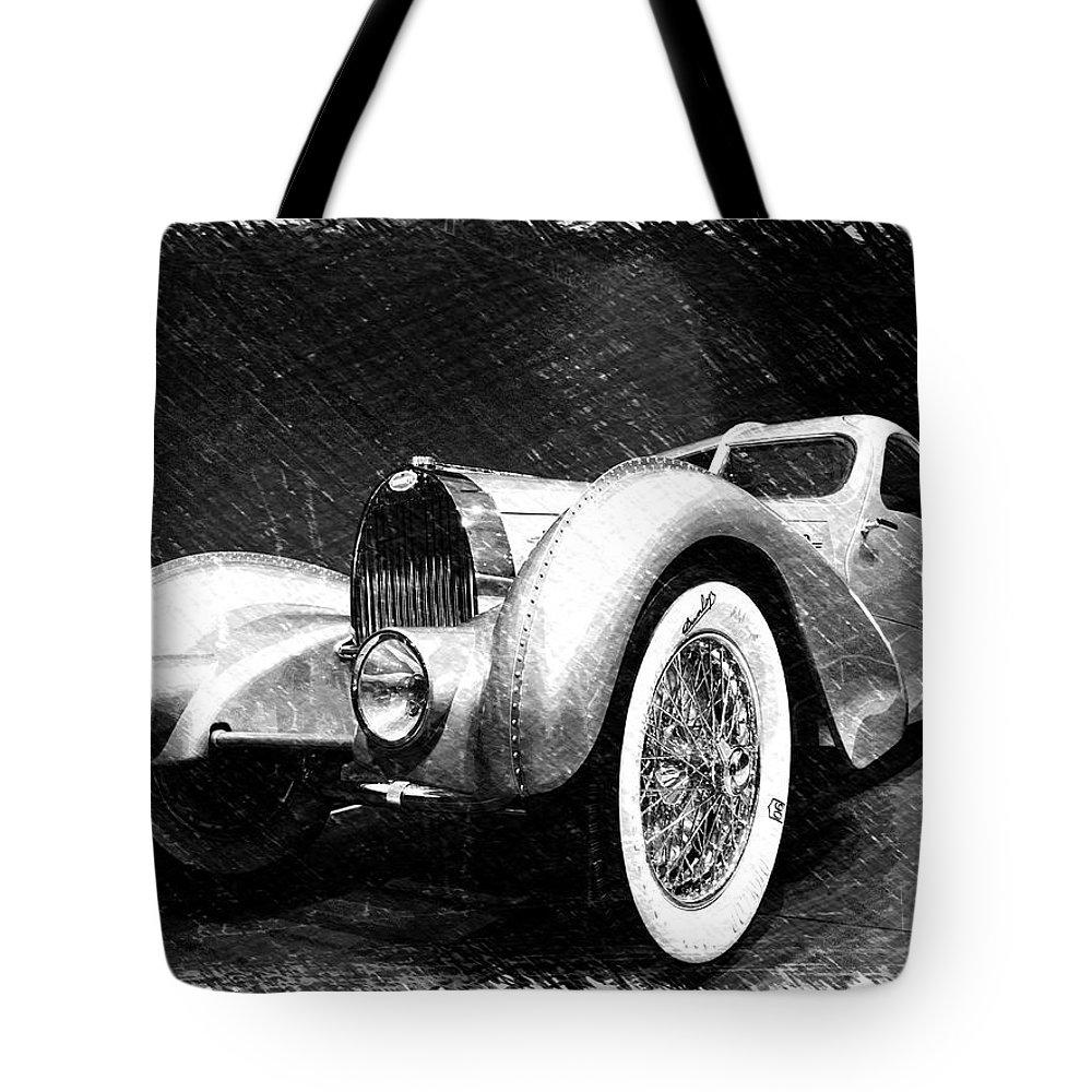 Bugatti Tote Bag featuring the photograph Bugatti Type 57 Aerolithe by Dick Goodman