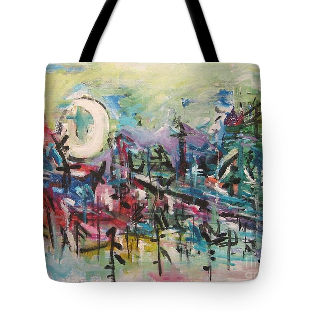 Abstract Paintings Tote Bag featuring the painting Bummer Flat2 by Seon-Jeong Kim