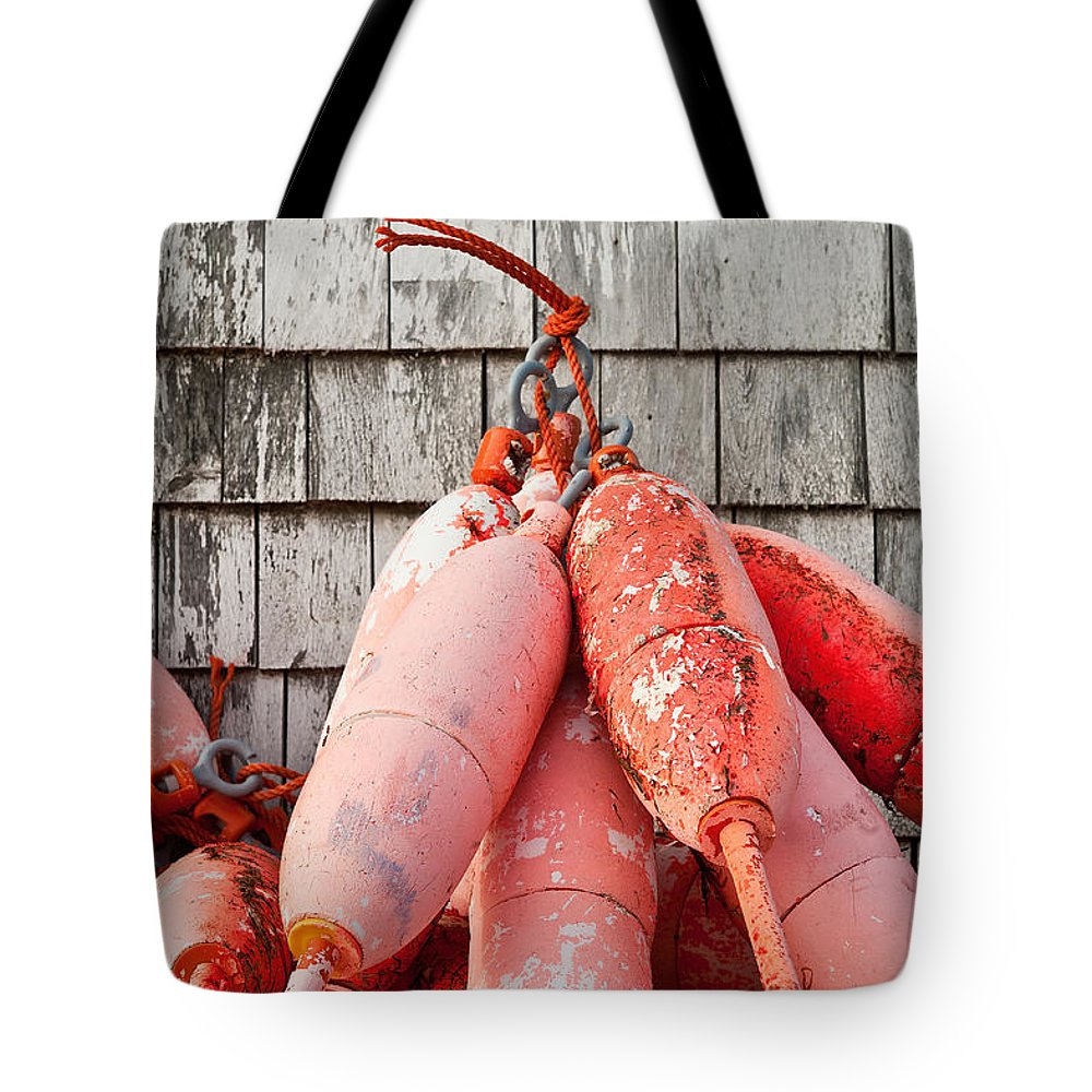 Maine Tote Bag featuring the photograph Buoys by John Greim