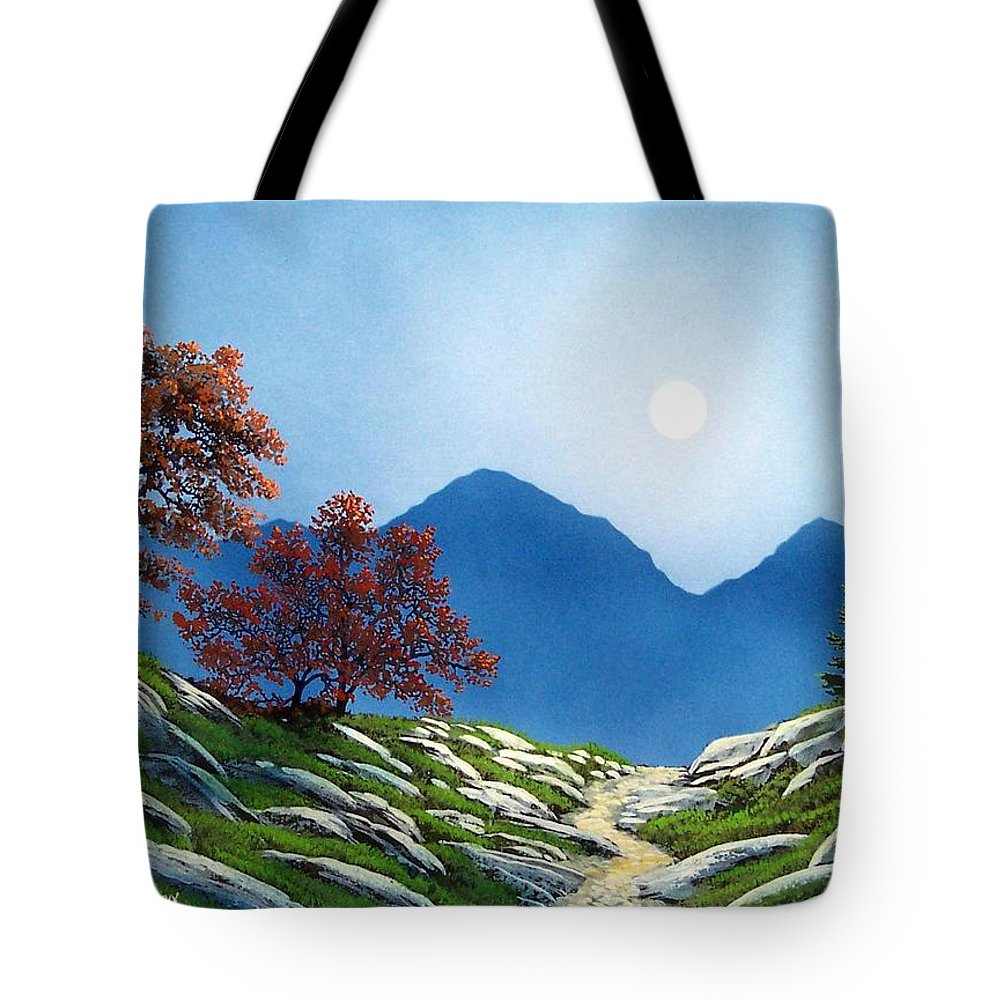 Landscape Tote Bag featuring the painting By The Light Of The Moon by Frank Wilson