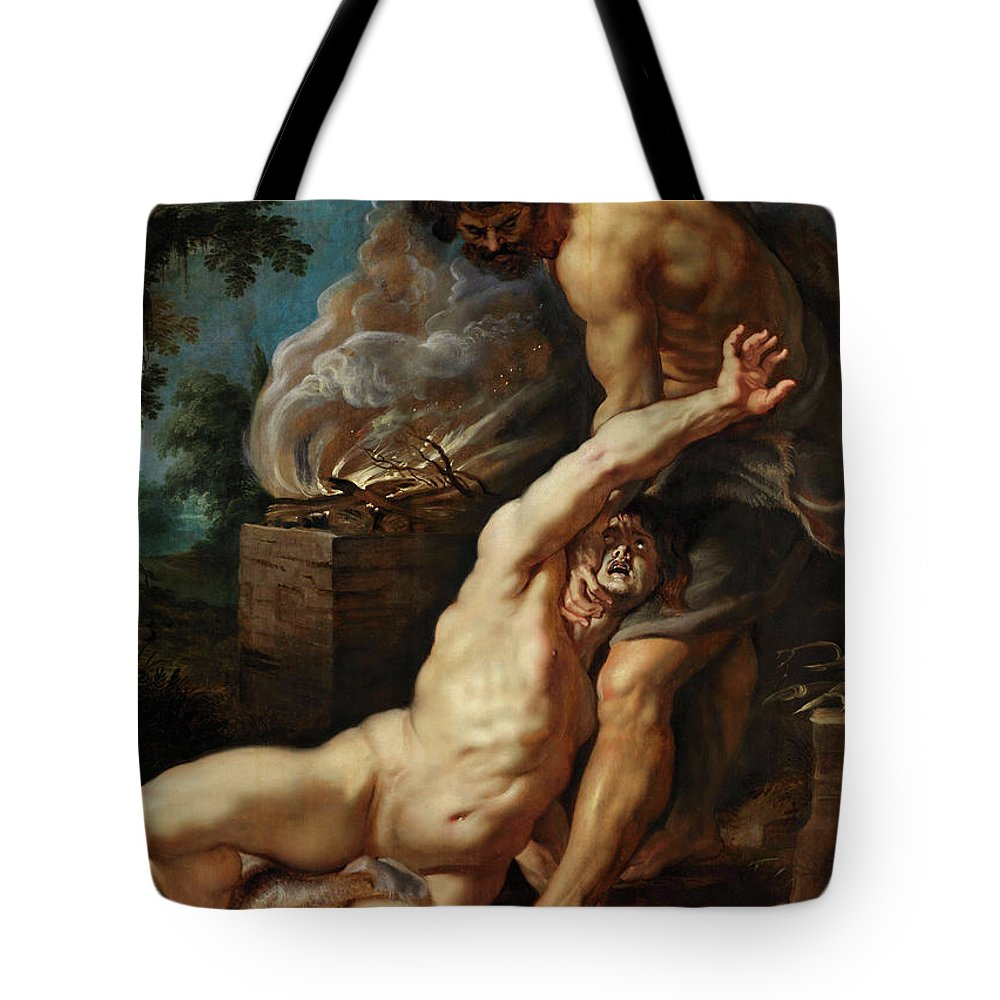 Abel Tote Bag featuring the painting Cain Slaying Abel by Peter Paul Rubens