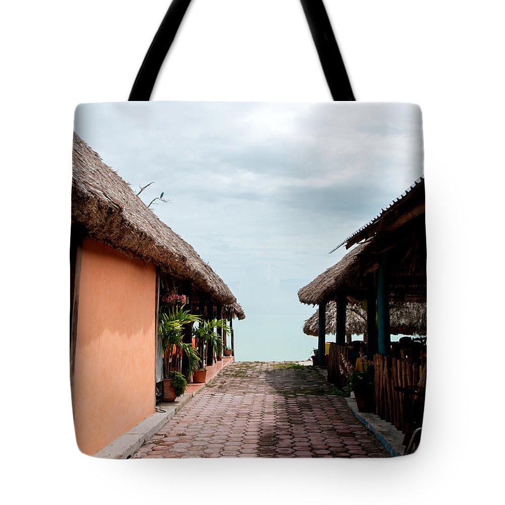 Mexico Quintana Roo Tote Bag featuring the digital art Calderitas by Carol Ailles