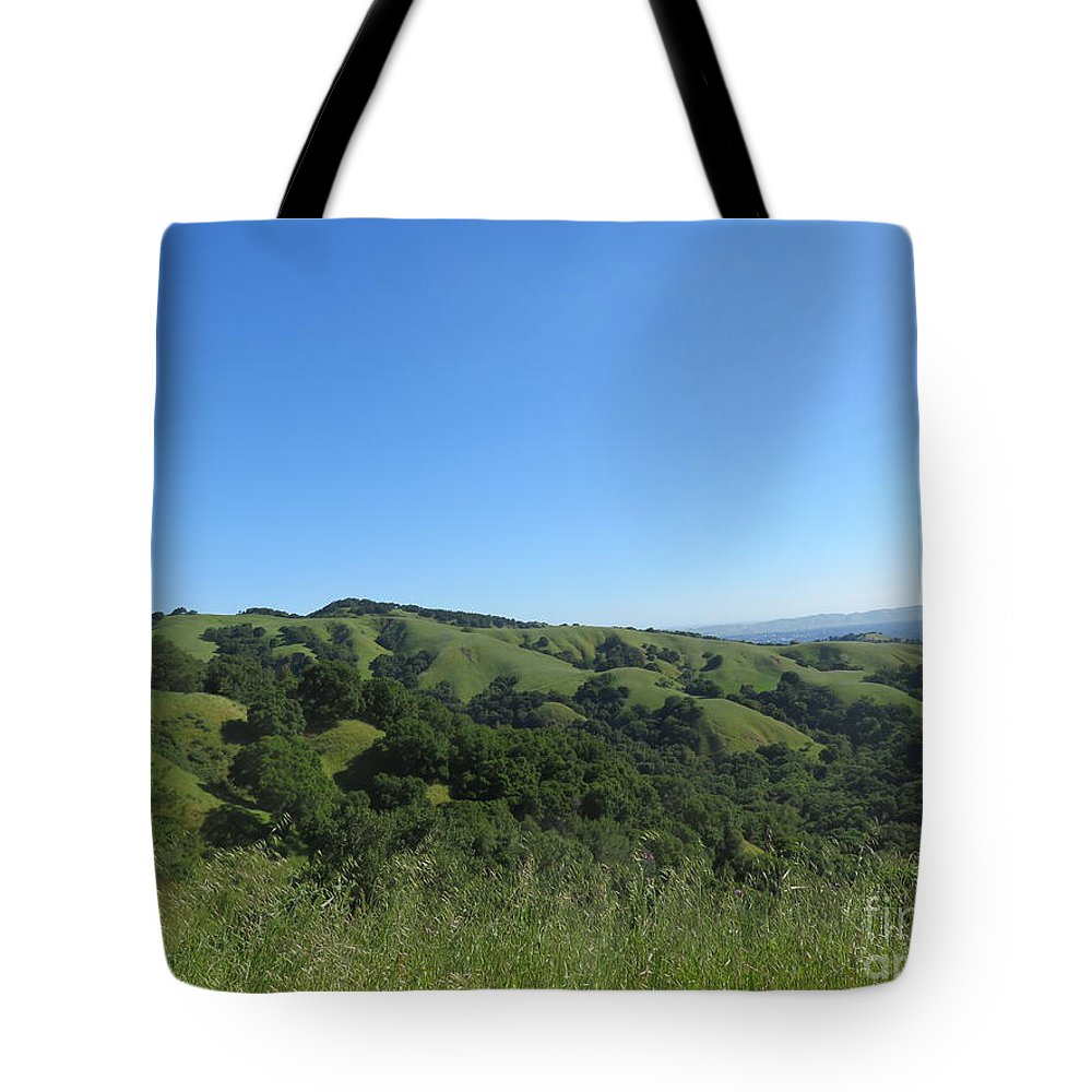 Landscape Tote Bag featuring the photograph California Hills by Suzanne Leonard