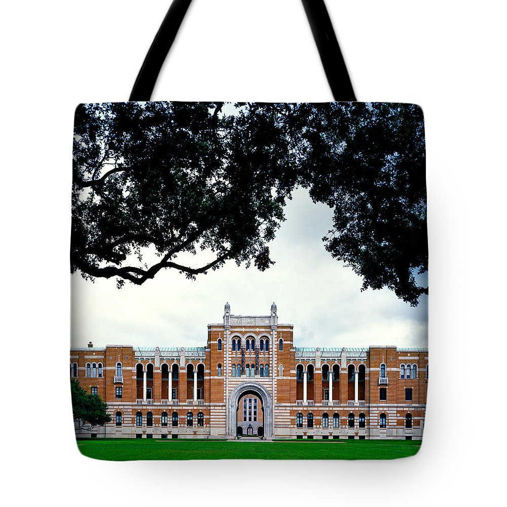 Hdr Tote Bag featuring the photograph Campus Of Rice University by Mountain Dreams