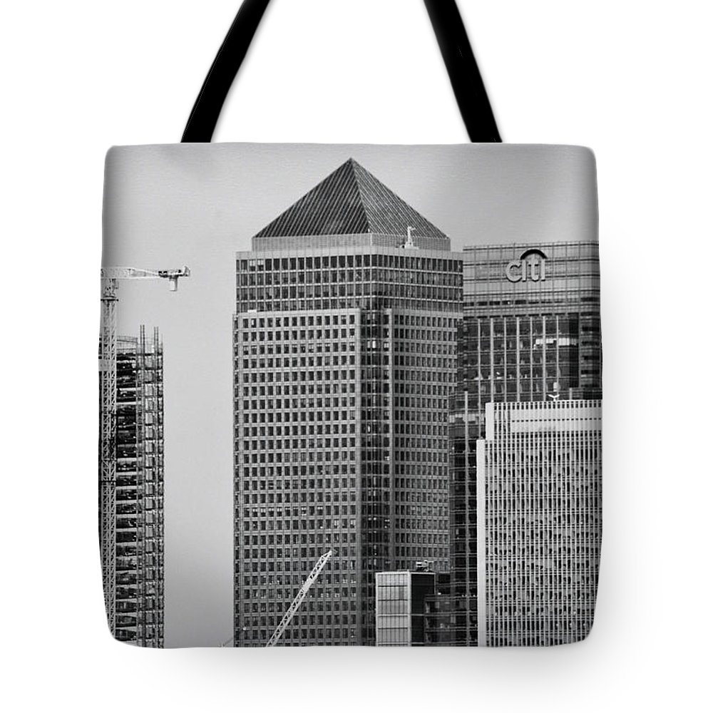 Business Tote Bag featuring the photograph Canary Wharf London by Martin Newman