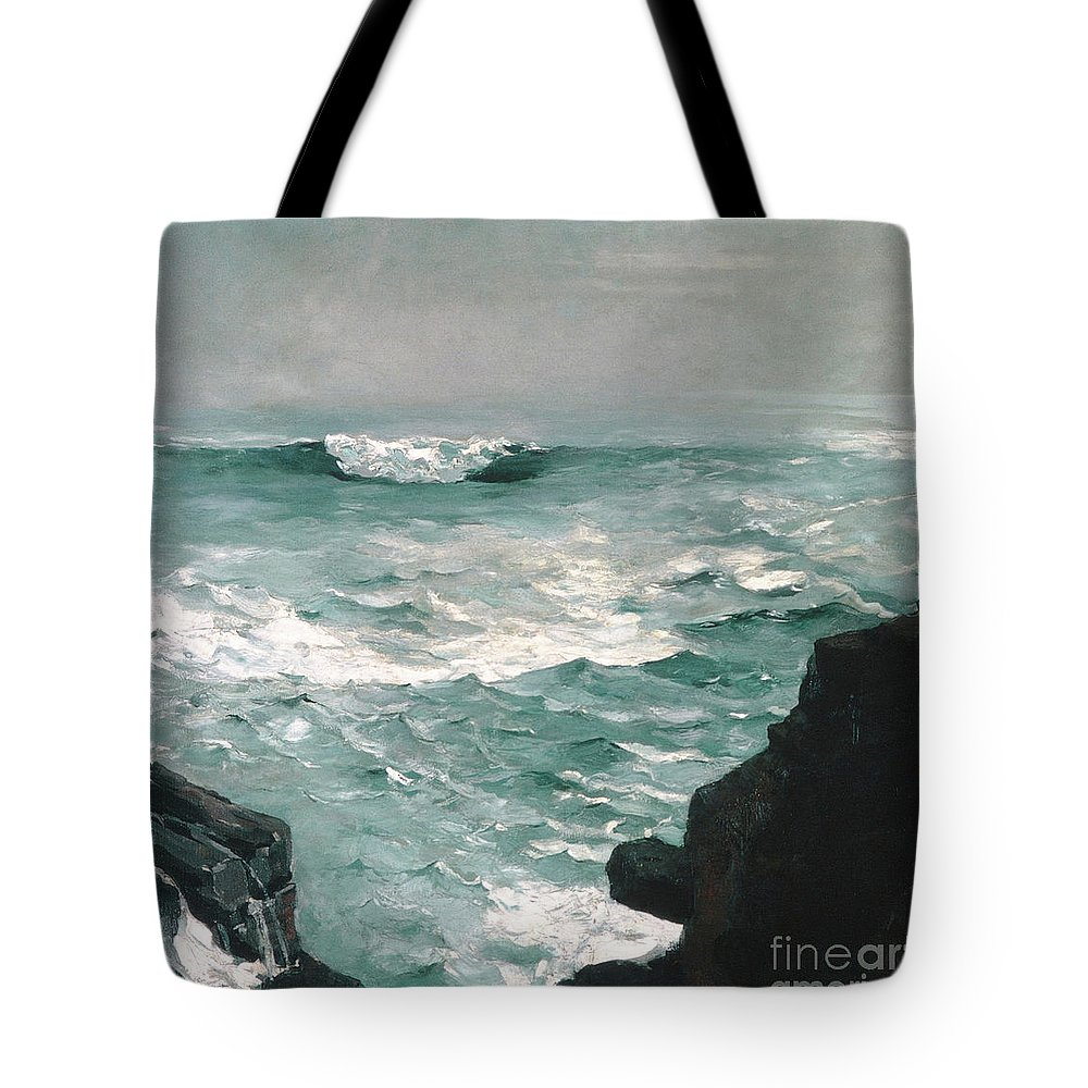 Homer Tote Bag featuring the painting Cannon Rock, 1895 1 by Winslow Homer