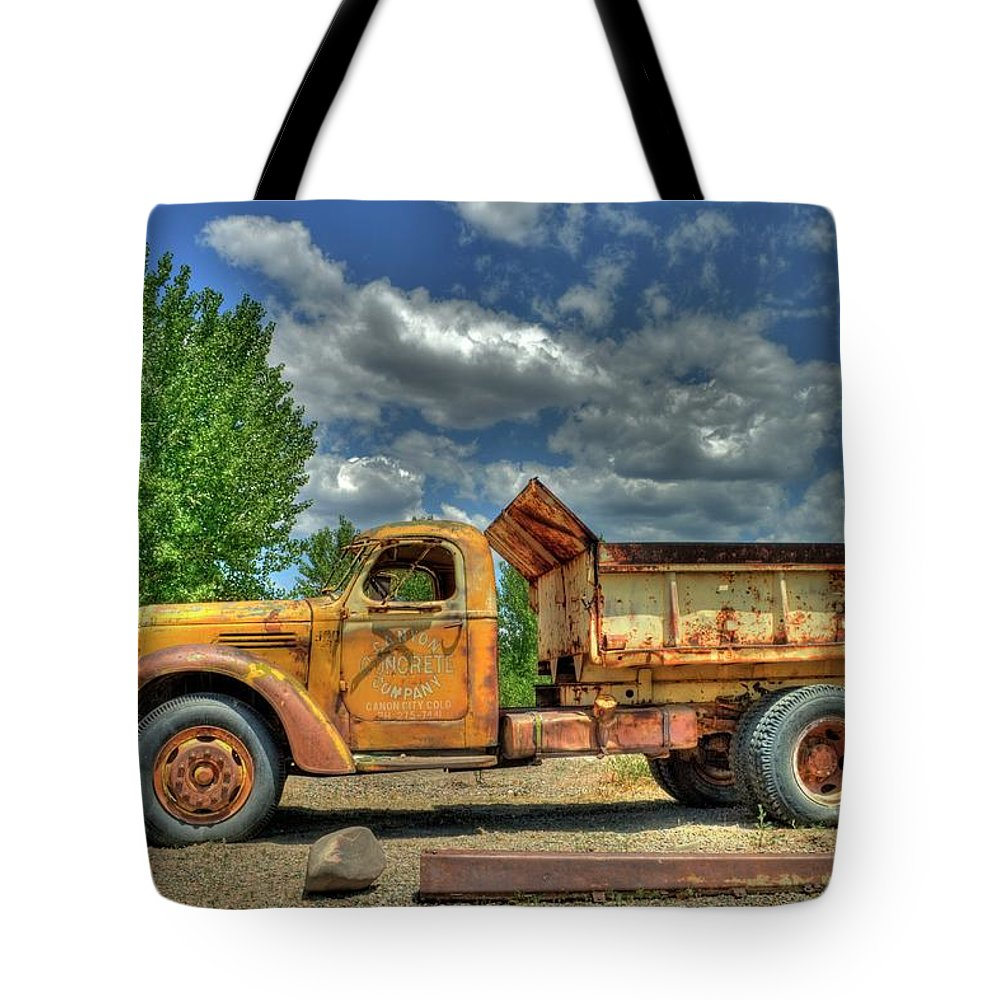 International Harvester Tote Bag featuring the photograph Canyon Concrete 2 by Tony Baca