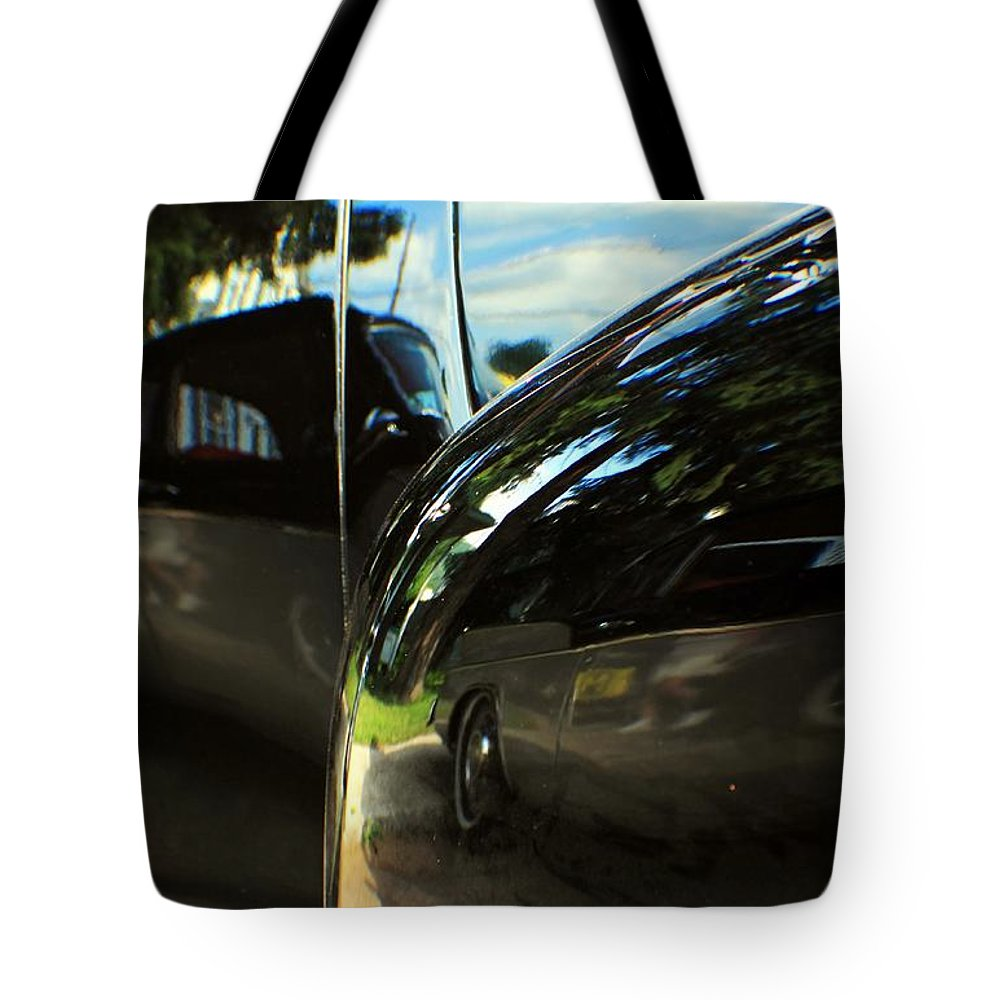 Cars Tote Bag featuring the photograph Car Reflection 8 by Karl Rose