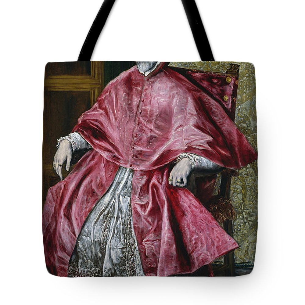 Beard Tote Bag featuring the painting Cardinal Fernando Nino De Guevara by El Greco
