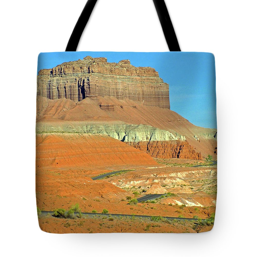 Carmel Canyon Trail In Goblin Valley State Park Tote Bag featuring the photograph Carmel Canyon Trail In Goblin Valley State Park, Utah by Ruth Hager