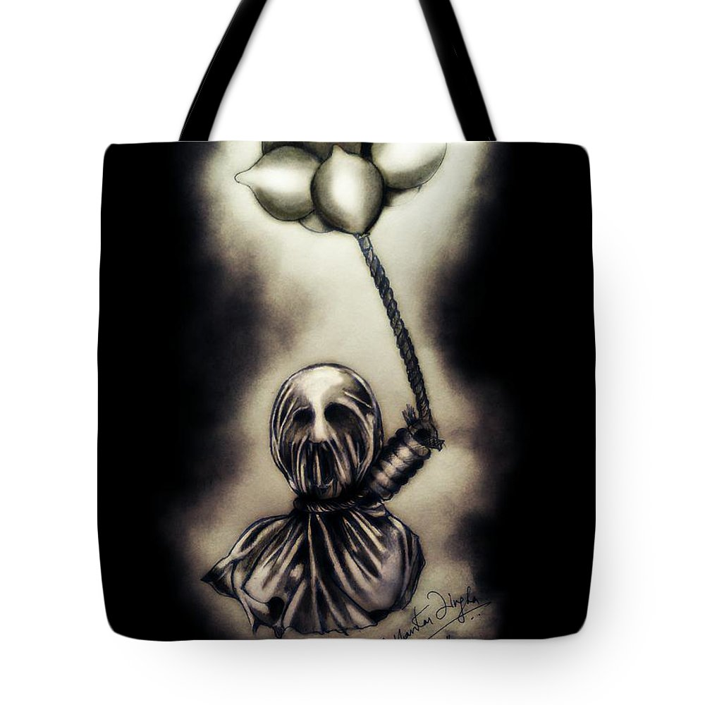 Tote Bag featuring the drawing Carnal Desires by Shubhankar Singha