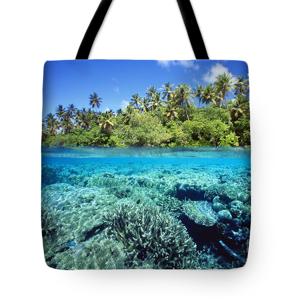 Above Tote Bag featuring the photograph Caroline Islands, Pohnpei by Dave Fleetham - Printscapes