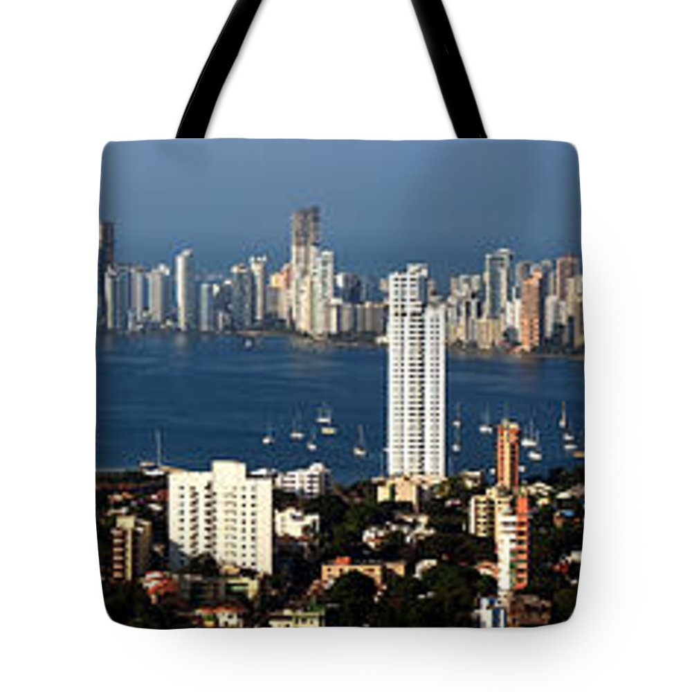 Cartwegena Tote Bag featuring the photograph Cartegena Colombia by Thomas Marchessault