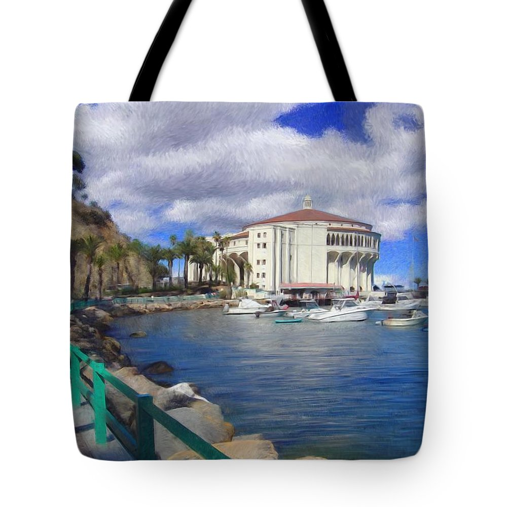 Catalina Tote Bag featuring the digital art Casino Runner by Snake Jagger