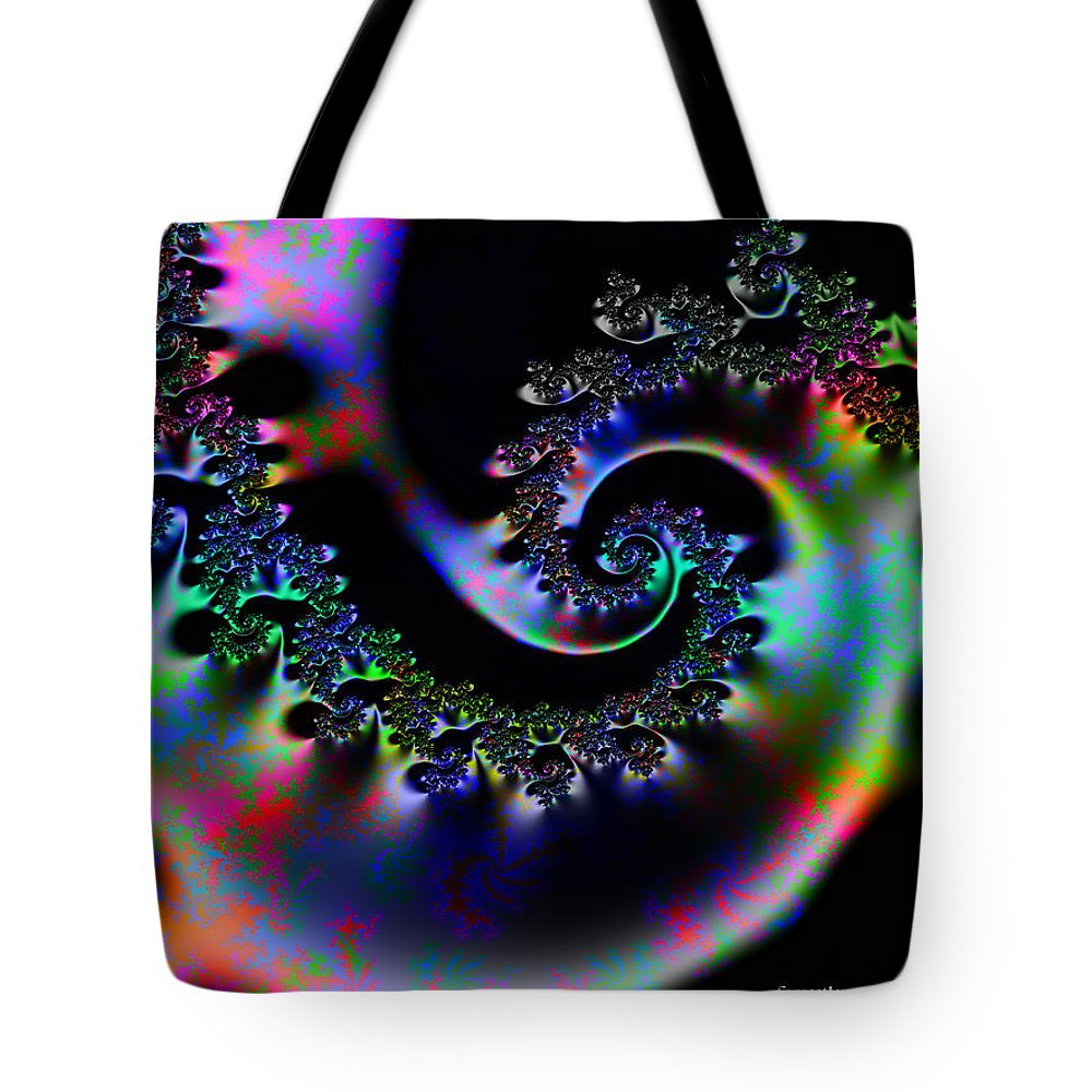 Design Tote Bag featuring the digital art Cassie's World by Robert Orinski