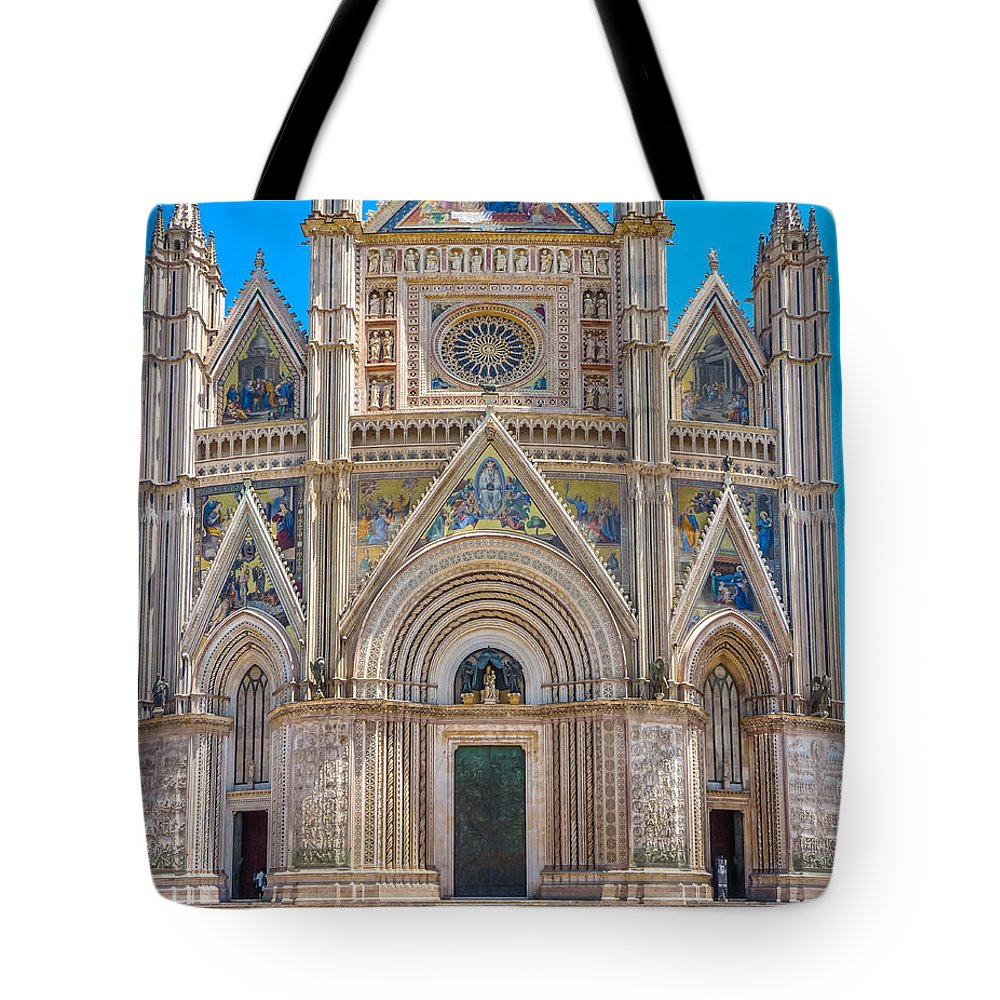 Ancient Tote Bag featuring the photograph Cathedral Of Orvieto, Duomo Di Orvieto, Umbria, Italy by JR Photography