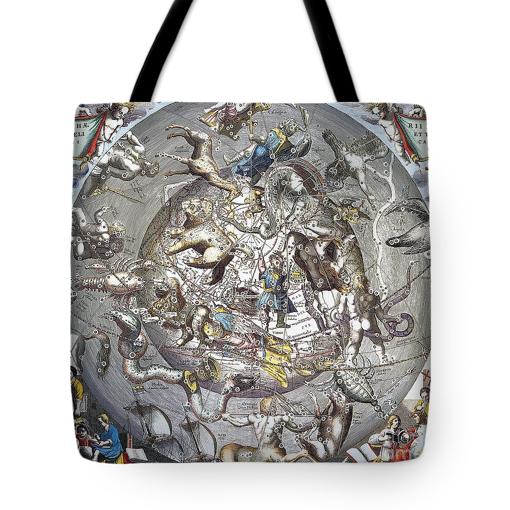1660 Tote Bag featuring the photograph Celestial Planisphere, 1660 by Granger