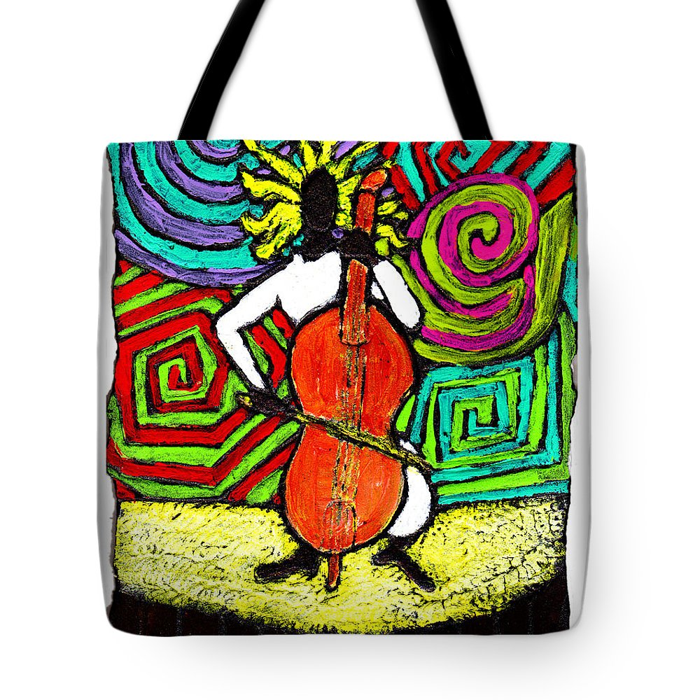 Music Tote Bag featuring the painting Cello Soloist by Wayne Potrafka