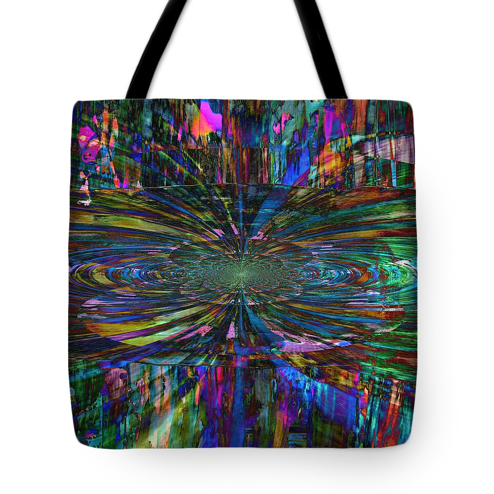 Abstract Painting Tote Bag featuring the painting Central Swirl by Kathy Sheeran