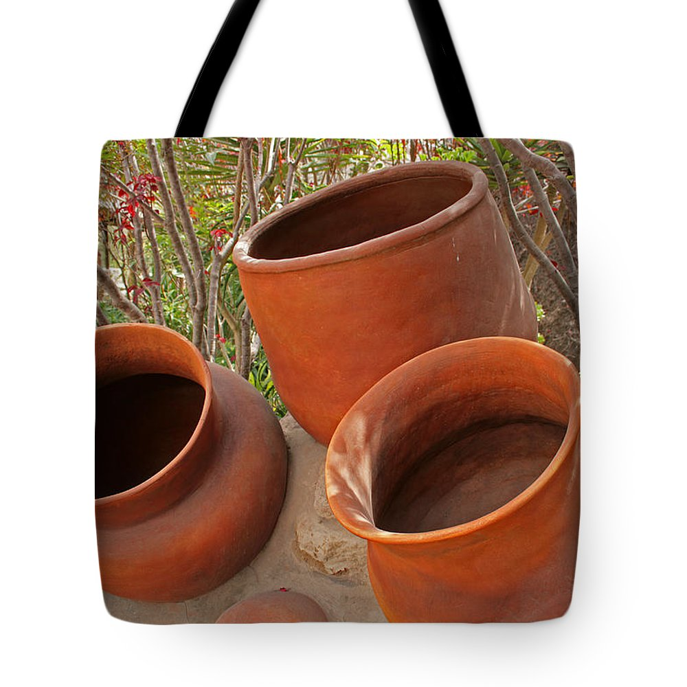 Pot Tote Bag featuring the photograph Ceramic Pots by Robert Hamm