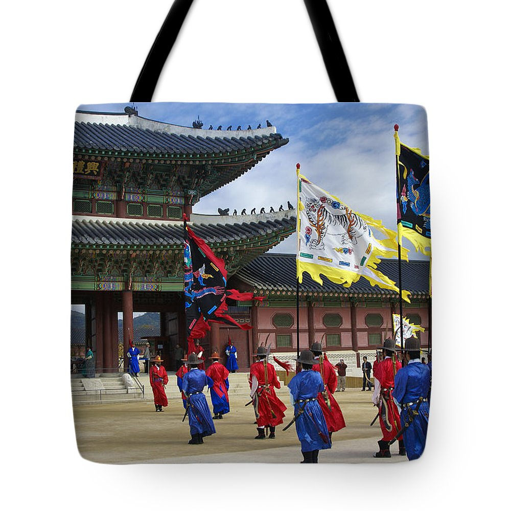 South Korea Tote Bag featuring the photograph Changing Of The Guard by Michele Burgess