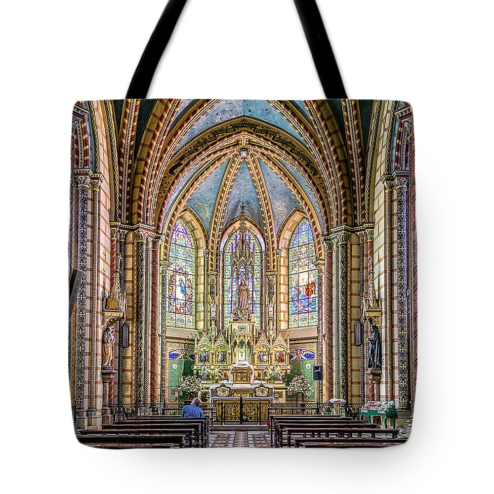 Architecture Tote Bag featuring the photograph Chapel by Maria Coulson