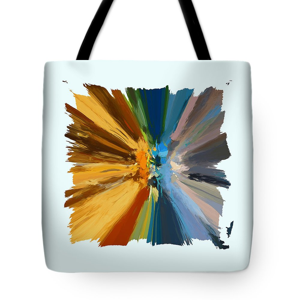 Abstract Tote Bag featuring the digital art Charmed Vi Pf by Ronald Bolokofsky