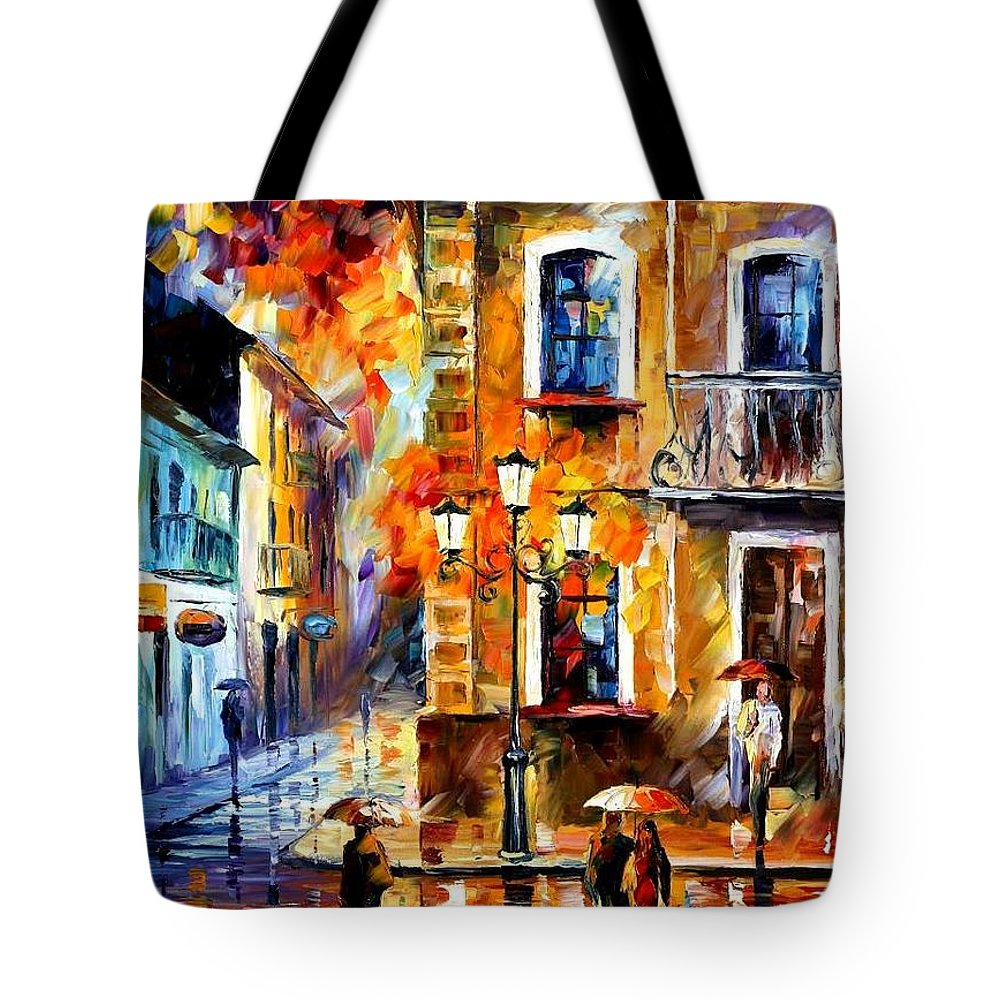 Afremov Tote Bag featuring the painting Charming Night by Leonid Afremov