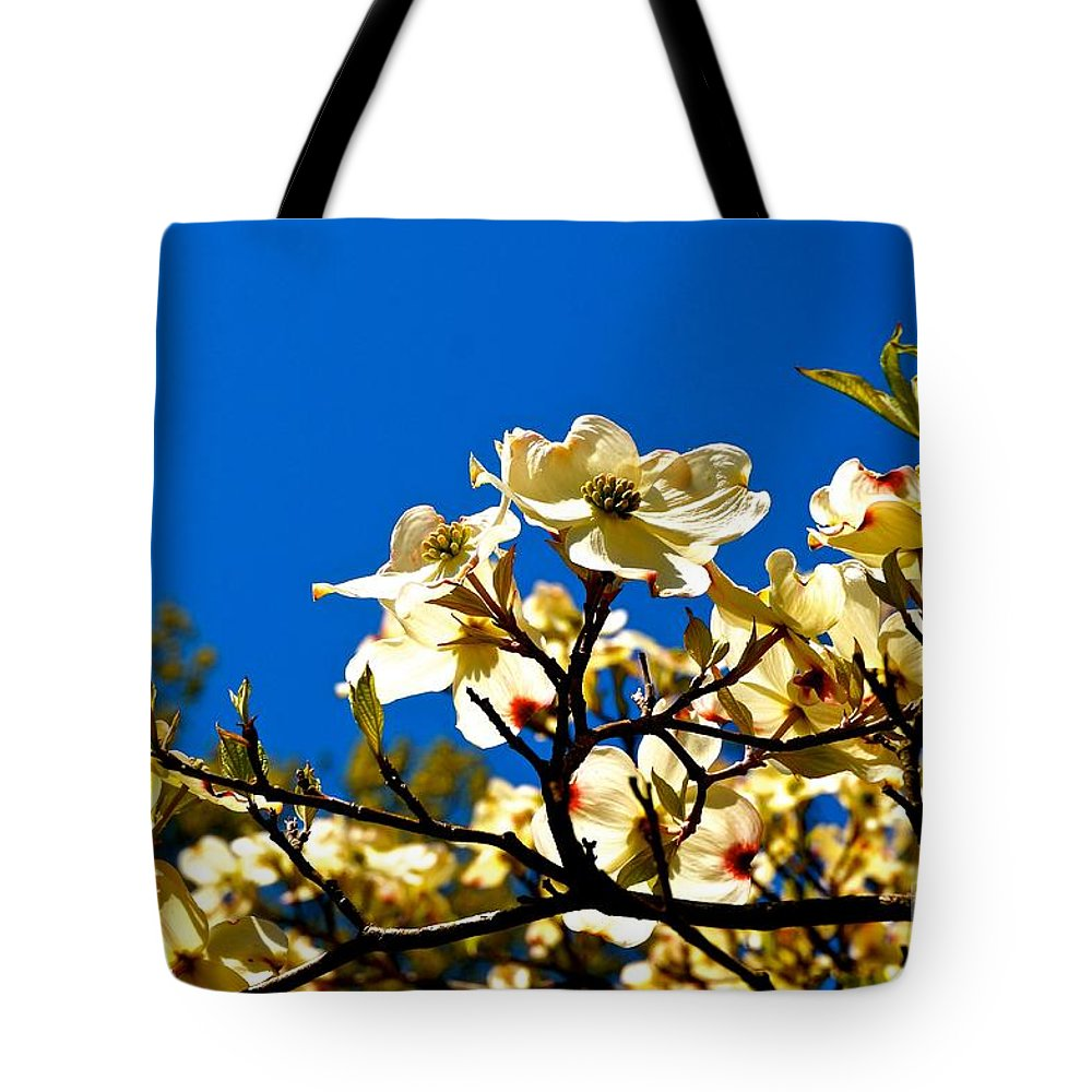 Cherry Tote Bag featuring the photograph Cherry Blossom by Ivana Kovacic