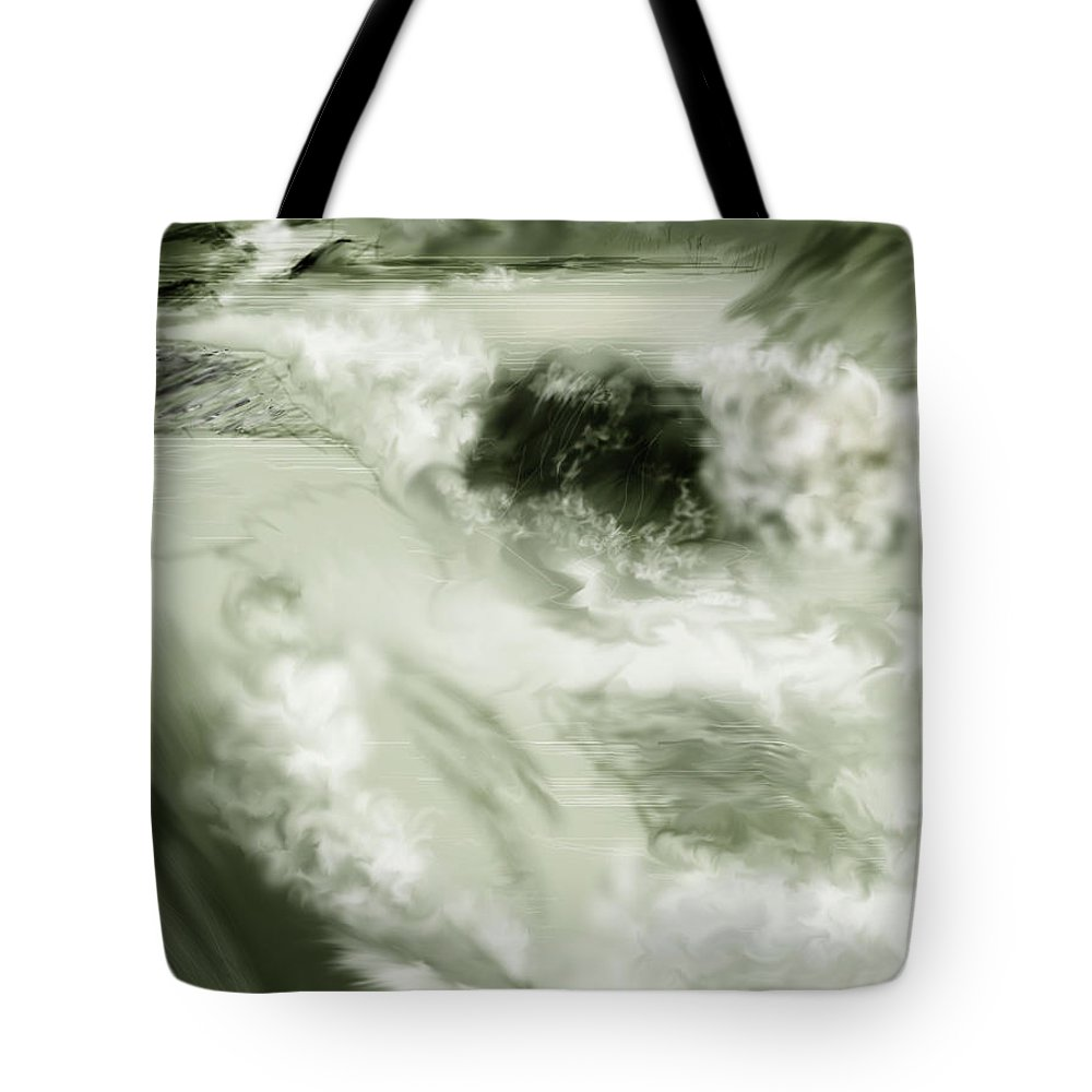 White Water Landscape Tote Bag featuring the painting Cherry Creek White Water by Anne Norskog