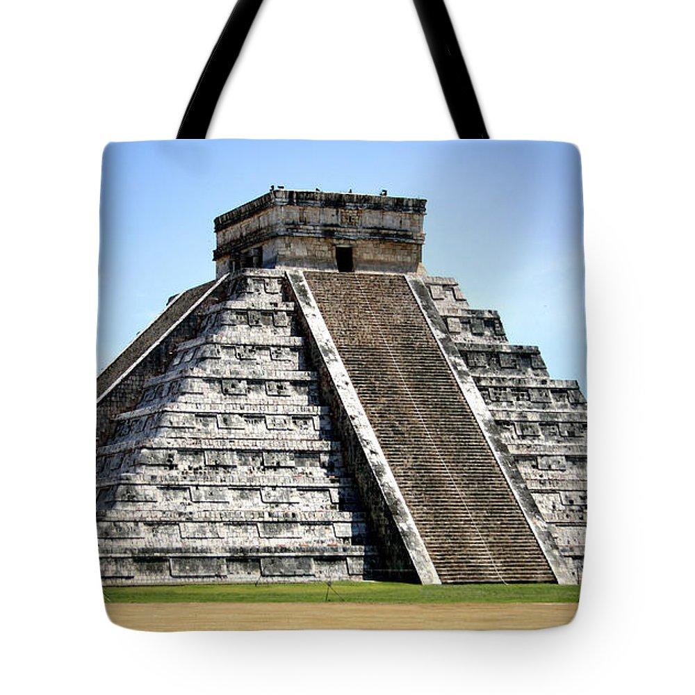 Chichen Itza Tote Bag featuring the photograph Chichen Itza by Chris Brannen