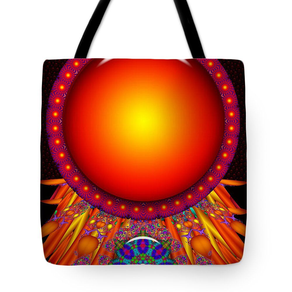 Orange Tote Bag featuring the digital art Children Of The Sun- by Robert Orinski