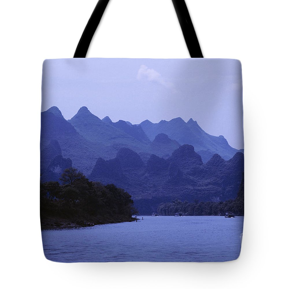 Asian Art Tote Bag featuring the photograph China, Guilin by Larry Dale Gordon - Printscapes