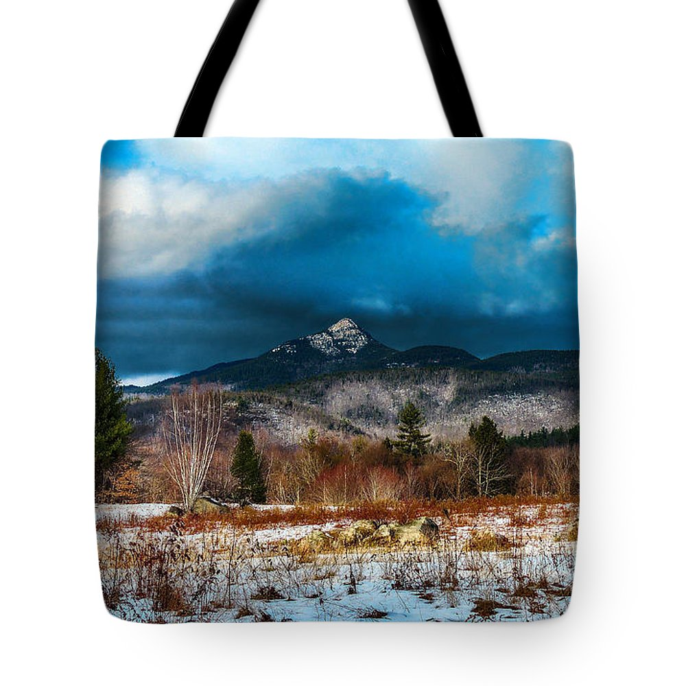 Nh Tote Bag featuring the photograph Chocorua by Mim White