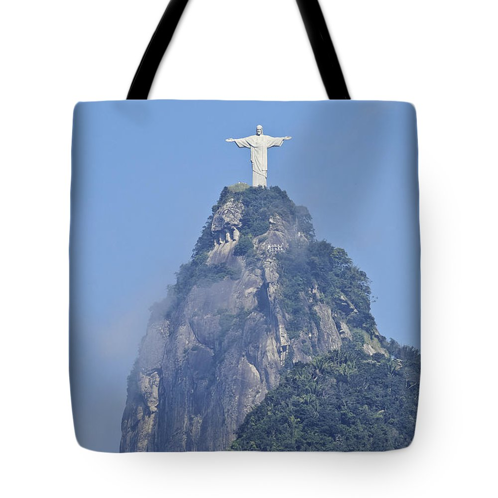 South America Tote Bag featuring the photograph Christ The Redeemer, Rio De Janeiro by Karol Kozlowski